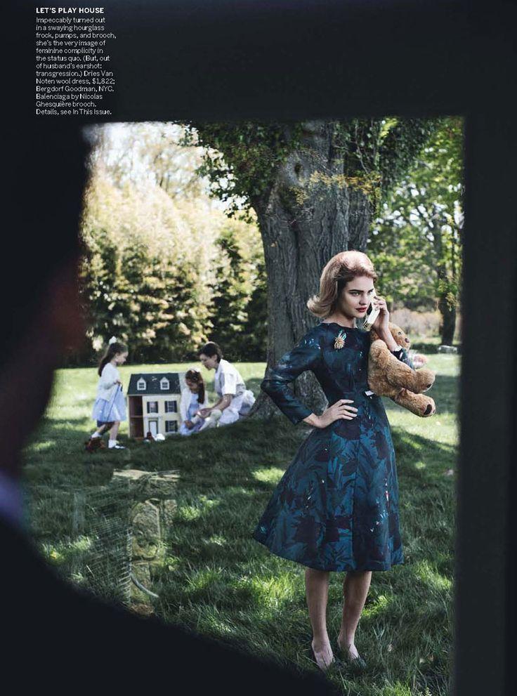 Natalia Vodianova & Ewan McGregor by Peter Lindbergh for Vogue US July 2010
