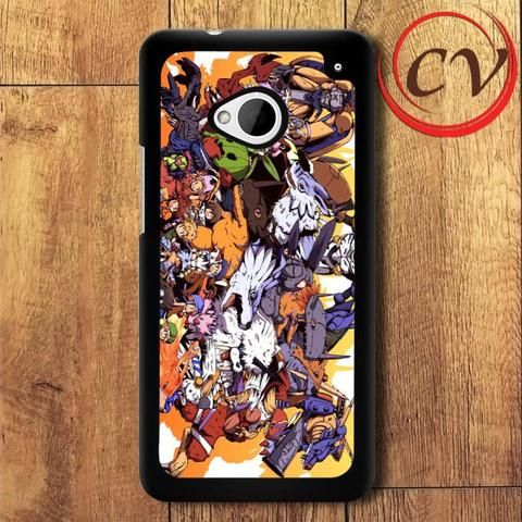Digimon Monster HTC One M7 Black Case