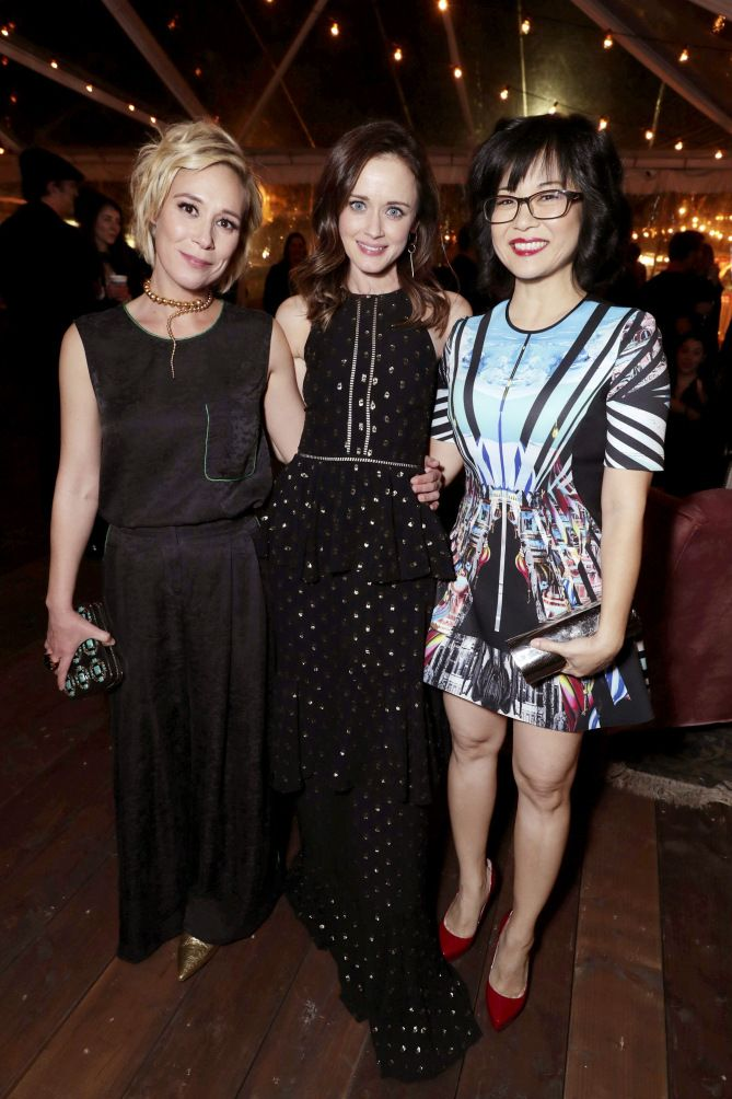 "GILMORE WOMEN   Liza Weil, Alexis Bledel and Keiko Agena attended Netflix's Gilmore Girls: A Year in the Life"" premiere party in Los Angeles on Friday. Eric Charbonneau/Invision for Netflix/AP StarTraks 19 Nov 2016"
