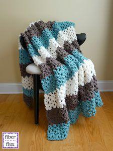 Free crochet throw pattern http://crochetncreate.com/family-room-throw-free-crochet-pattern/ #crochetncreate