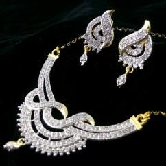 American Diamond Gold Plated Pendant Earring Mangalsutra Set With Chain *Beautifully hand crafted Pendant and Earrings *Sparkles like real diamond gold Mangalsutra necklace *High quality American Diamonds are used *Can be used in daily routine *Gold plated Mangalsutra pendant set   ₹399.00 INR Buy at http://crazyberry.in/online-shopping/artificial-imitation-fashion-jewellery/american-diamond-gold-plated-pendant-earring-mangalsutra-set-chain
