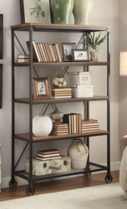 With A Look That Blends The Transitional Design Element Of Wood And Accenting Lends To Modern Traditional Aesthetic Branson Bookshelf Will Help