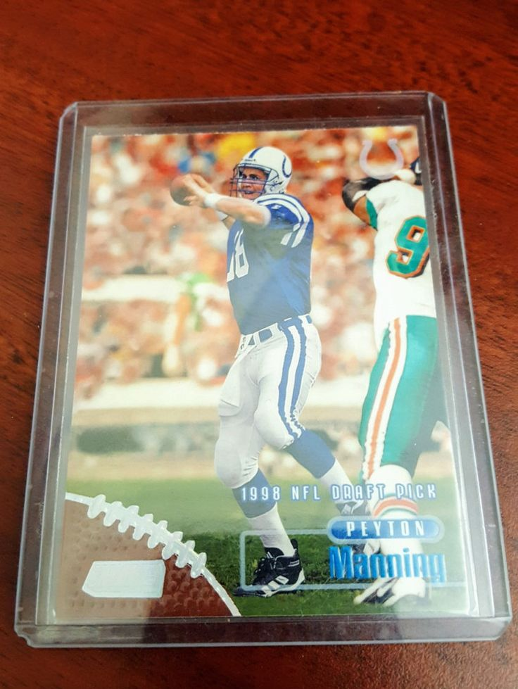 Peyton Manning 1998 Rookie Card! Denver Broncos, Indianapolis Colts, Tennessee Vols, NFL MVP by BBSportscards on Etsy