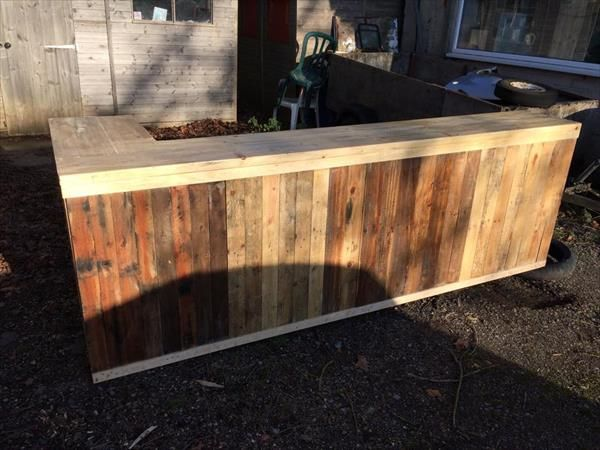 25 best ideas about pallet counter on pinterest pallet for Diy wood bar