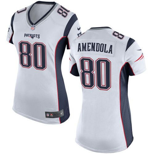 Nike New England Patriots Women's #80 Danny Amendola Limited White Road NFL Jersey