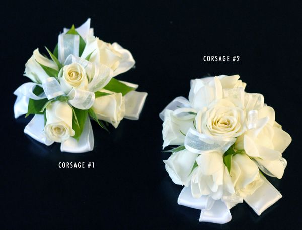 Bridal White Corsage for the ladies! from Bridal Flowers to Go! Wedding Flowers in Houston, TX http://www.bridalflowerstogo.com