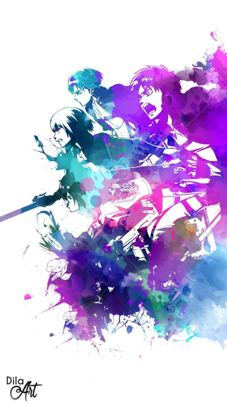 Attack On Titan - Anime Splash Art