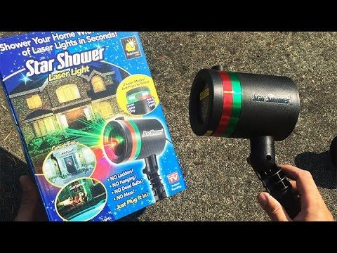 Star Shower Review | Star Shower Laser Light Review | Laser Christmas Lights - YouTube. I looked up the reviews and not so great but there is another brand I'm going to try instead....sooo awesome!