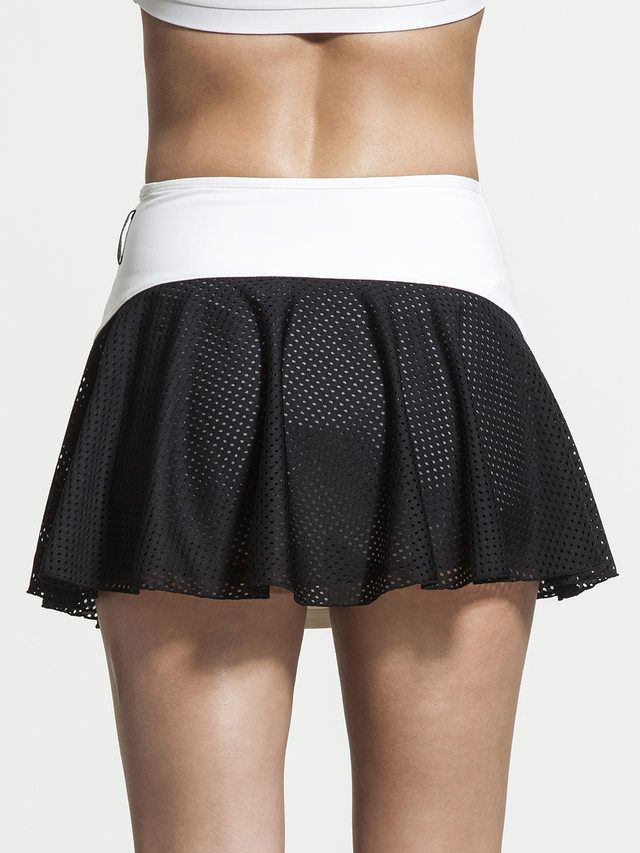 Deuce Skirt in White/black by Michi from Carbon38