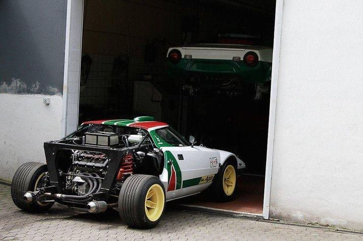Lancia Stratos HF in garage for mantinece (were they are 9/10 times lol)