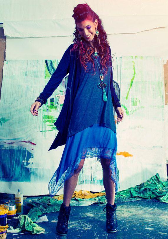 Rebeca, Rebeca de gran tamaño, Kimono chaqueta de punto, suéter de la Rebeca de las mujeres, asimétrico chaqueta, chaqueta de otoño, de manga larga chaqueta de Boho
