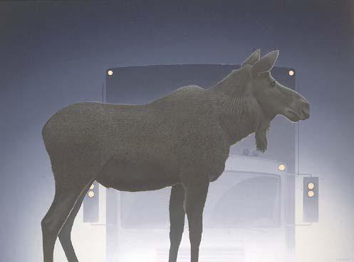 "Christopher Pratt – ""Moose and Transports"" 1993"