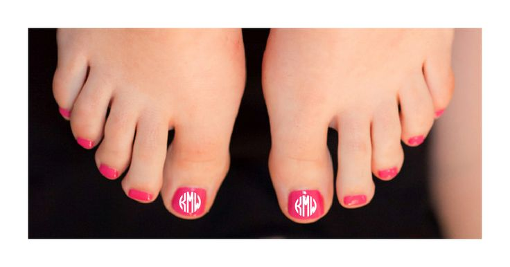 "Monogram Nail Decals. One of my new favorites ""Pink Azalea ..."