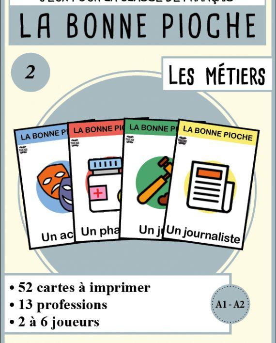 Jeu de cartes FLE : Bonne Pioche sur les métiers - MondoLinguo