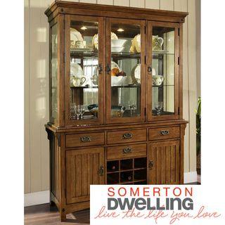 Somerton Dwelling Craftsman Hutch With Buffet