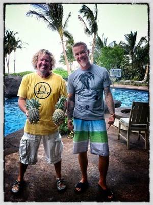 Sammy Hagar & James Hetfield. Hey Sammy...like your pineapples ;) giggity!