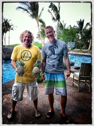 Sammy Hagar and James Hetfield