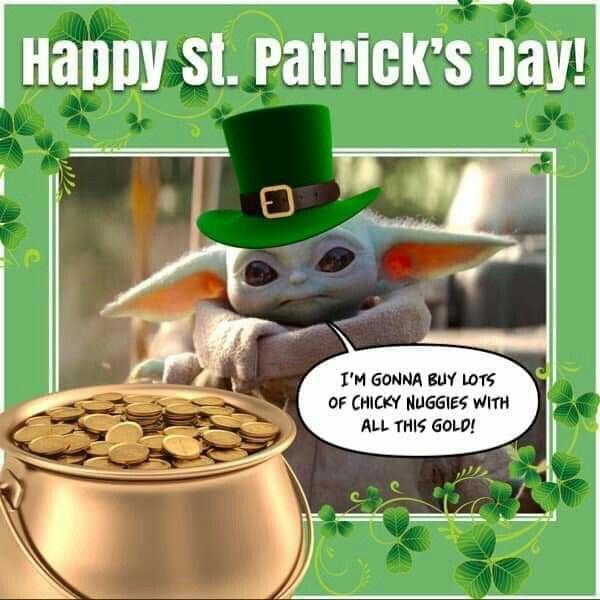 Pin By Slothie On Baby Yoda Yoda Meme Happy Patrick Day Star Wars Memes