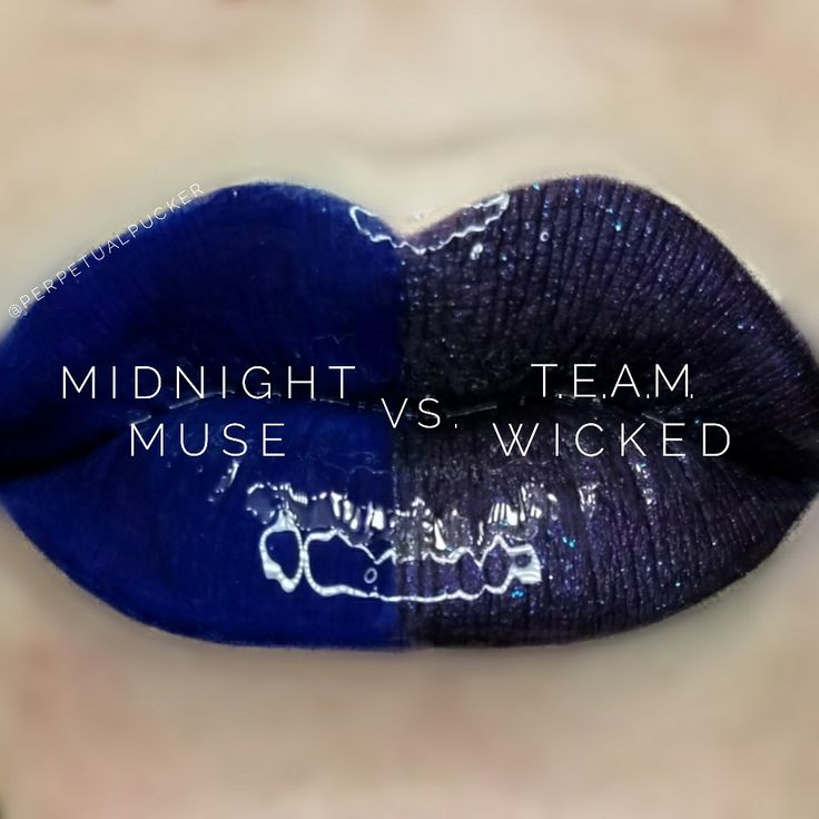 LipSense distributor #228660 @perpetualpucker Midnight Muse vs TEAM Wicked