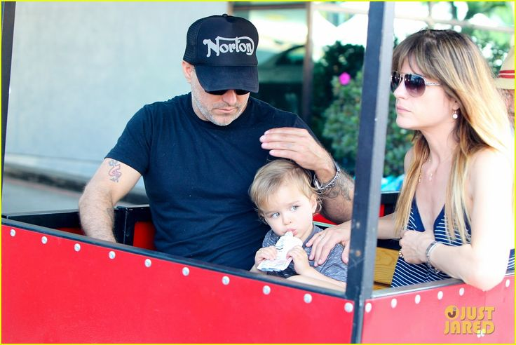 Selma Blair and her ex husband Jason Bleick take their son Arthur to the farmers market on July 7, 2013