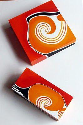Susana Munay Arte abstracto Cuadros Minimalist abstract paintings: Juego de cajas pintadas nuevas
