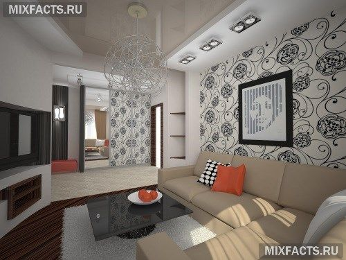Дизайн зала в хрущевке