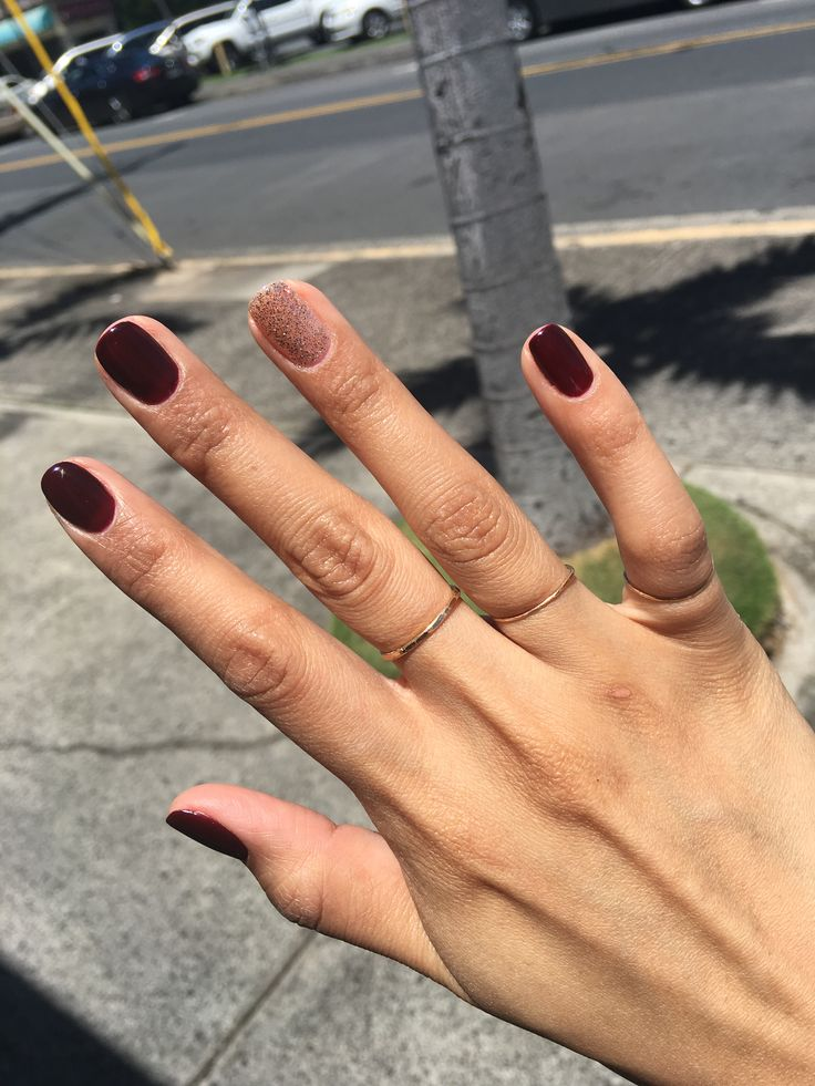 This is how I have my nails, with that one nail a different color! Love it.