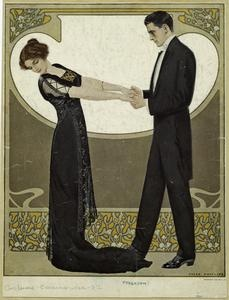 [Man in tuxedo and woman in evening gown.] (1912): Amazing Art, Art Nouveau, Phillips 1880 1928, Coles Phillips, Art Deco, 1920S Nypl