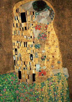 Gustav Klimt - Der Kuss - jetzt bestellen auf kunst-fuer-alle.de