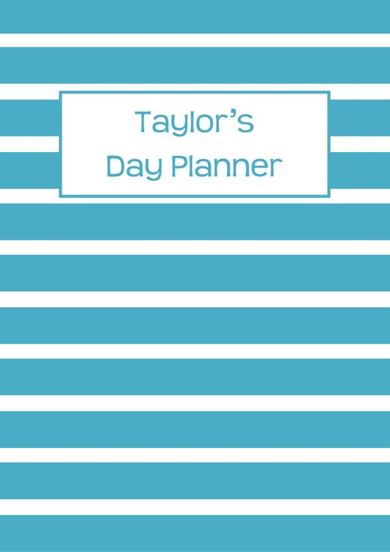 Printable Planner - Personalised Diary Planner -Agenda-2013-2014 Any Year-Build Your Own Planner-Weekly Planner-Day Planner -Product 437. $10.00, via Etsy.