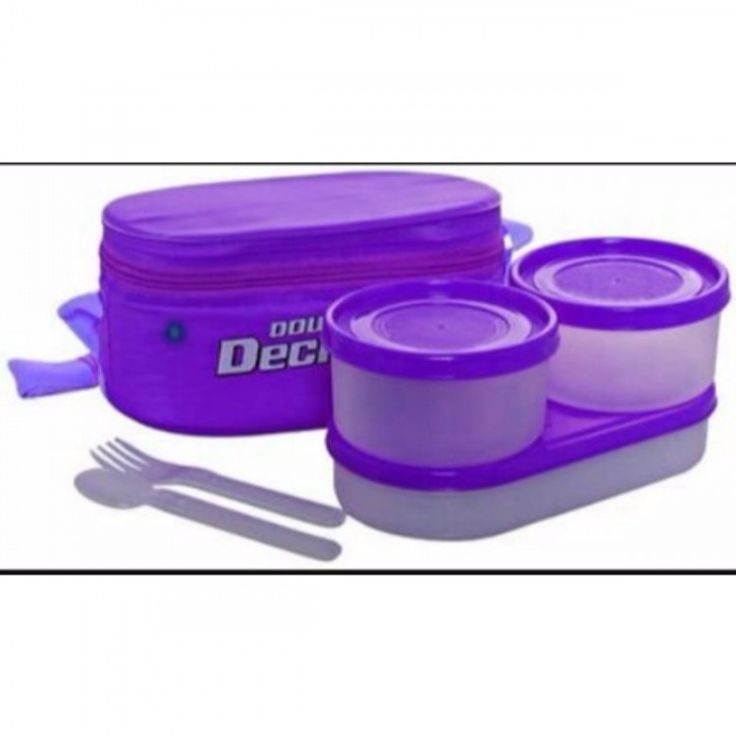Milton Plastic Lunch Box In Purple Color ( 2 Container 280Ml Each, Oval Container 420Ml ) #lunchboxes #Homeandkitchen #Discounts #Offer #ebizy