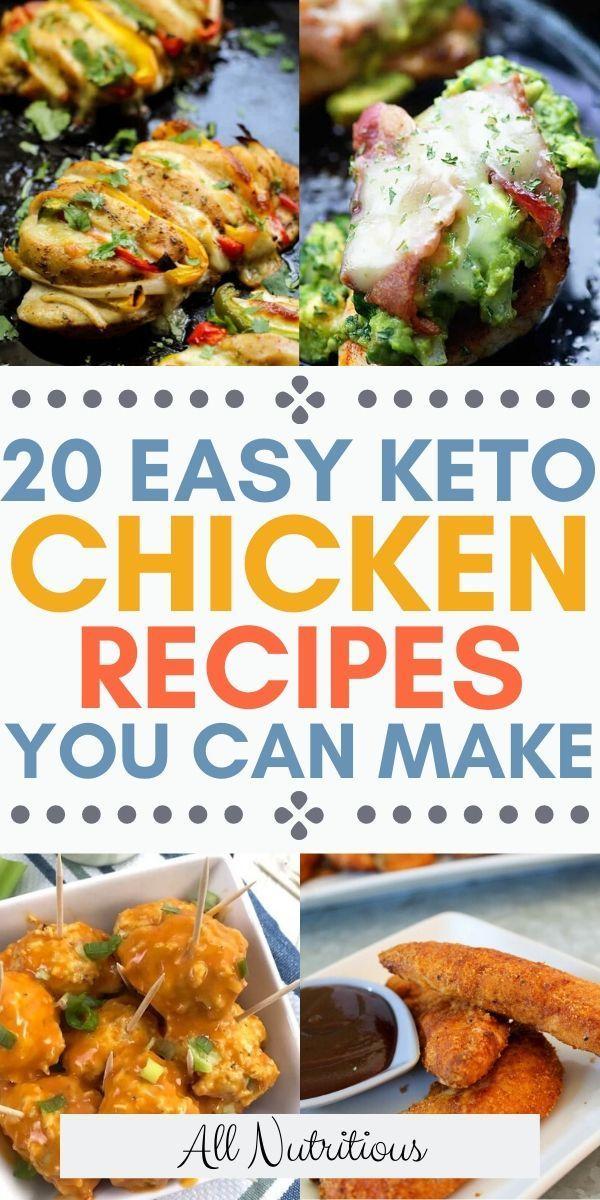 20 Keto Chicken Recipes That Aren T Boring In 2020 Chicken Recipes Dinner Recipes Healthy Low Carb Low Carbohydrate Recipes