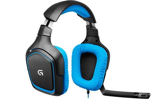 Logitech G430 (£49.50 - Amazon) 40mm drivers, virtual 7.1, good price, included sound card allegedly not great, G230 (£41.99 - Amazon) is the same set without the sound card, mic doesn't auto mute when raised, a little flimsy