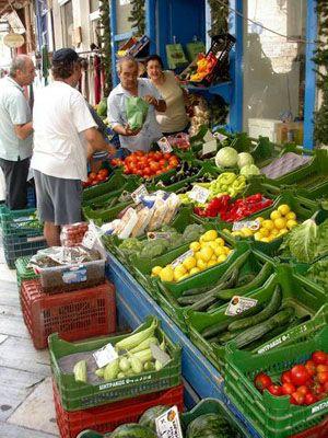 The market of Hermoupolis