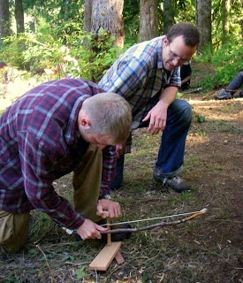 how to make a friction fire