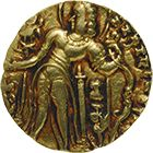 Gupta Empire, Chandragupta II, Dinar (obverse)                                                                                                                                                                                 More