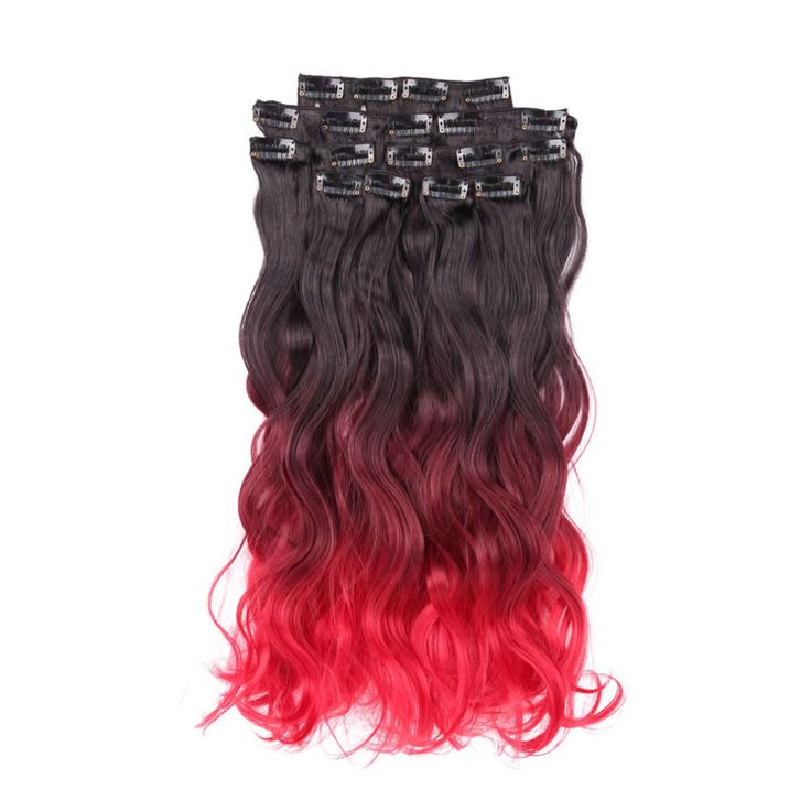 82 best hair extensions images on pinterest hair lengthening 1bbugred natural black to red ombre clip in hair extensions body pmusecretfo Gallery