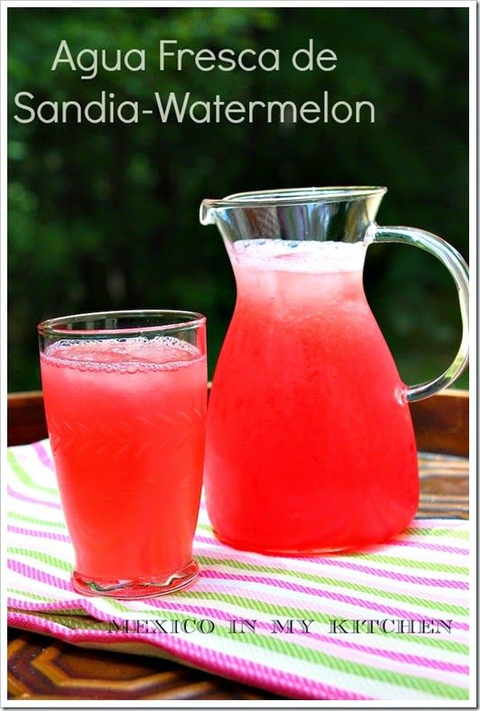 Aguas Frescas Pineapple, Watermelon and Cantaloupe Drinks