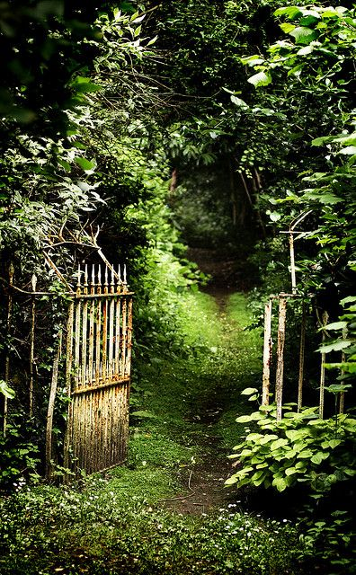 """""""Walk with me....""""  A wild and secret garden at Crowe Hall, north of Bath, England by archidave"""