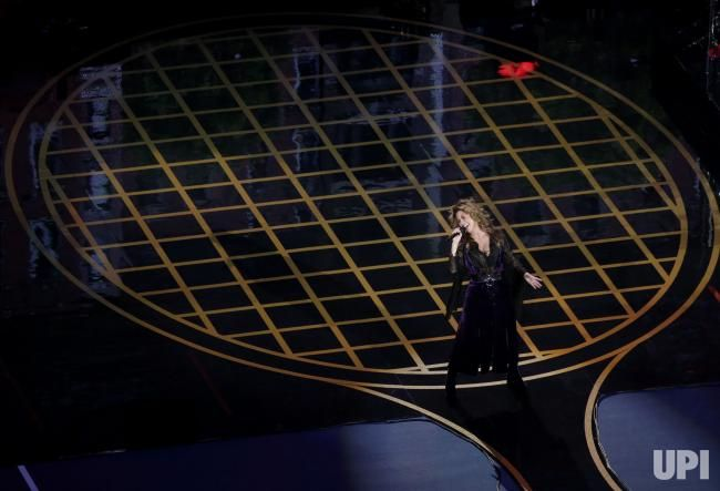 Shania Twain performs in Arthur Ashe Stadium on opening night of the 2017 US Open Tennis Championships at the USTA Billie Jean King…