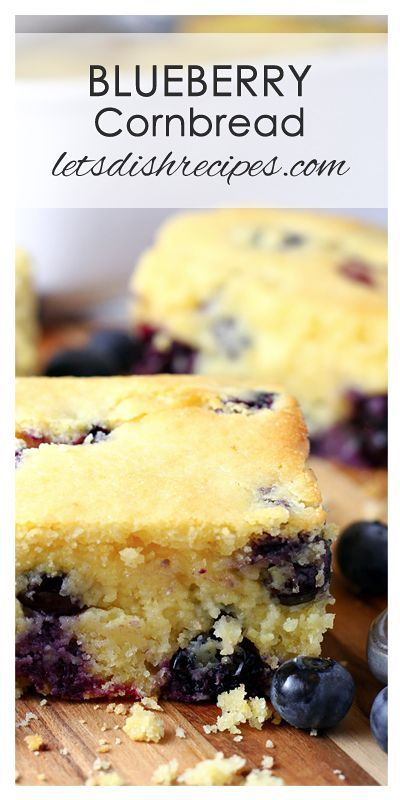 Blueberry Cornbread Recipe | Traditional cornbread gets even better with the addition of sweet blueberries.