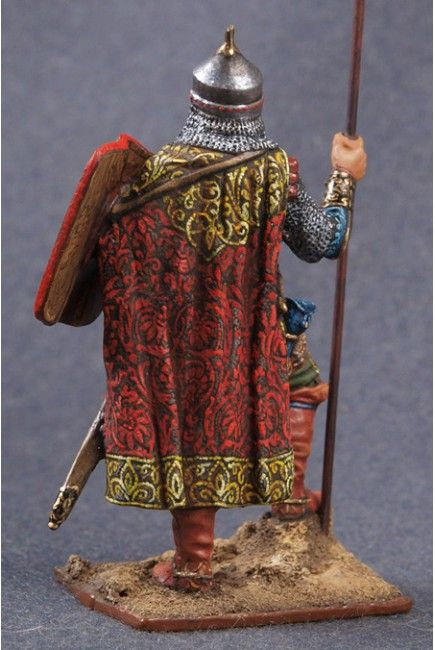 Знатный Русский конный воин со знаменем. 14 век  Конверсия, Художественная роспись.
