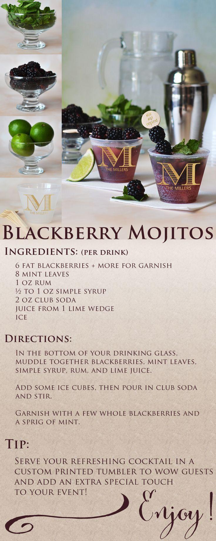 Blackberry Mojitos Recipe fruit cocktail recipe recipes drink recipes ...