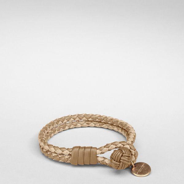 Bottega Veneta Bronze Intrecciato Ayers Bracelet<3