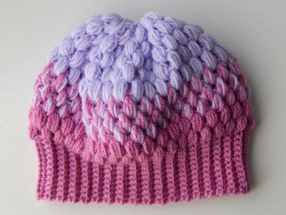 Вязанная крючком зимняя шапочка для девочек от OlgasHandMadeWorld