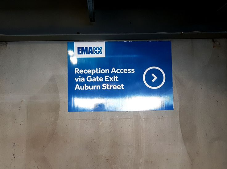 ACM sign for EMA by Speedy Signs Newton