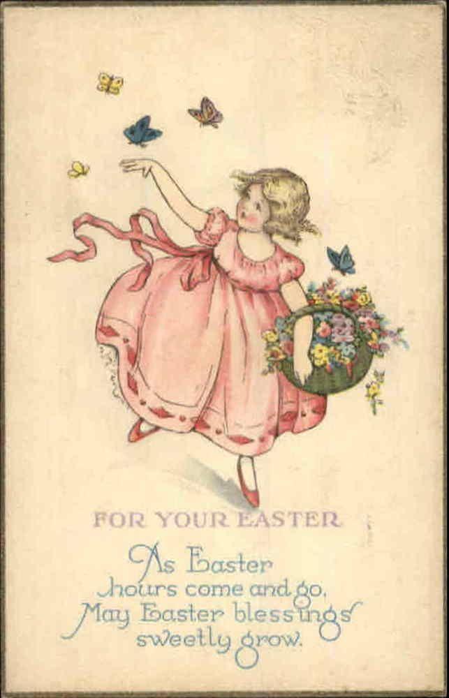 300 best Easter \/ Östern \/ Pasen images on Pinterest Vintage - easter postcard template