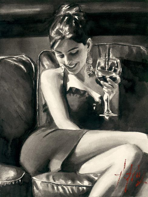 Painting by Artist Fabian Perez