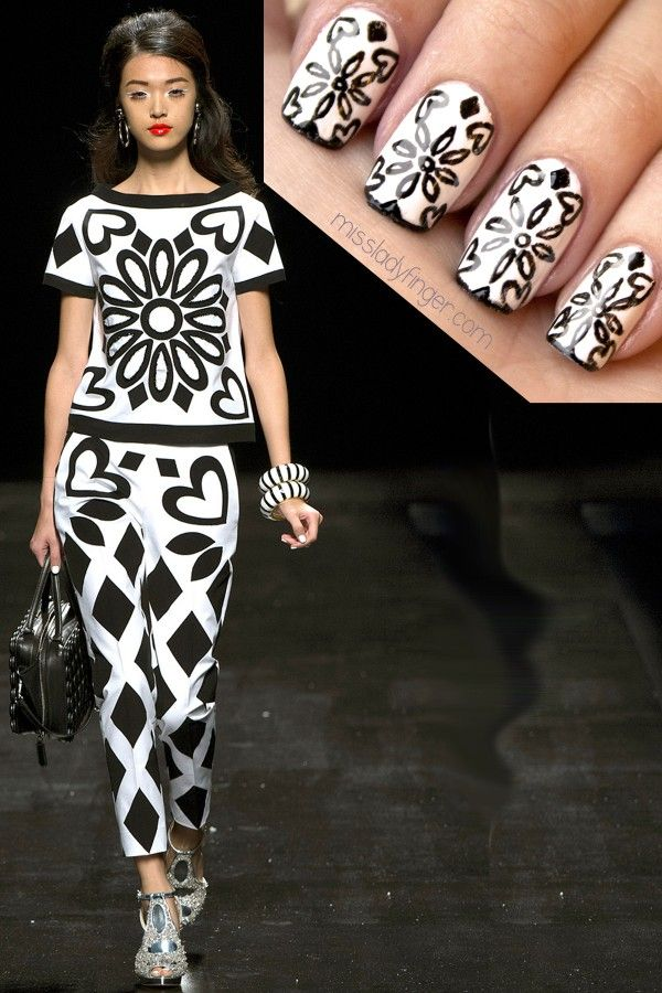 189 best Fashion Inspired Nail Art images on Pinterest   Runway ...
