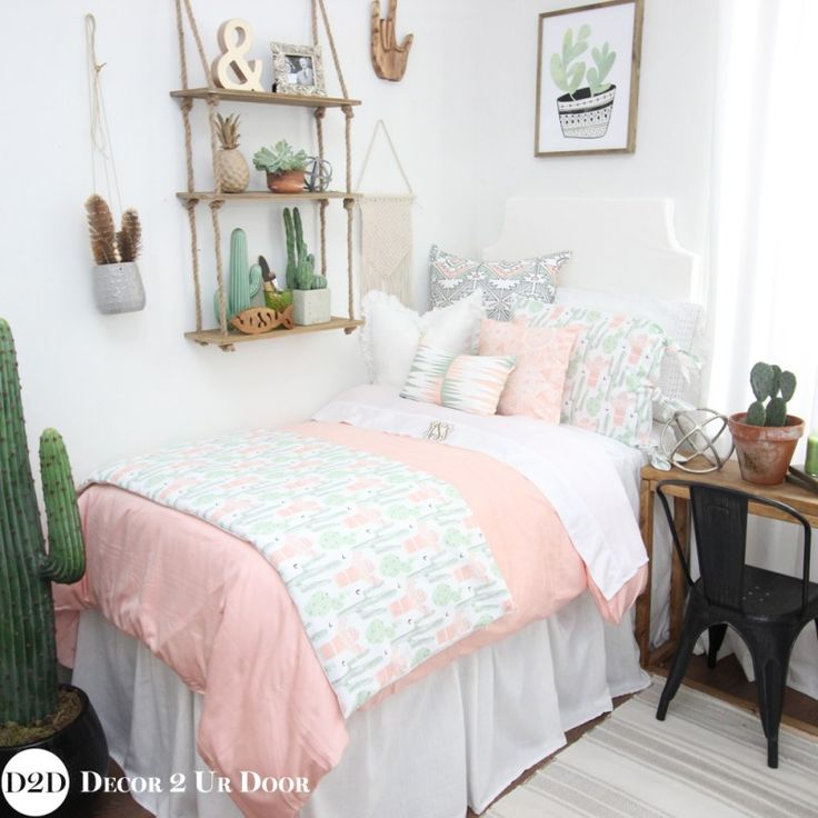 Brand New Cactus Bedding Perfect For Dorm Teen Home Apt...LOVE! Peach Part 65